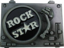 Star Dj Set Retro Belt Buckle- Rock