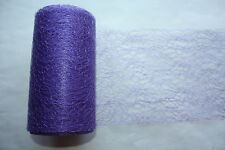 ROLL OF PURPLE SPIDER WEB LACE NET 15cm x 20 metres WEDDING PARTY BRIDAL