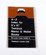 "Twinlock Memo libro índice A-Z 75282 6 X 3.1/2"""