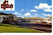 Newby's Motel-Sign-Old Cars-Spokane-Washington-Vintage Advertising Postcard