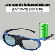 Universal Active Shutter 3D Glasses 3D DLP-Link Projector USB Charging HD Lens