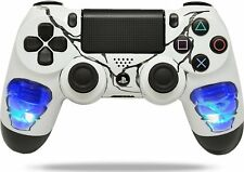 """Skulls Blue"" Ps4 Rapid Fire Custom Modded Controller Auto Run Quick Scope +MORE"