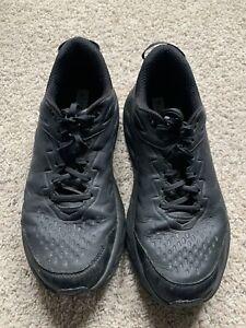 Hoka One One Bondi SR Black Leather Running and Jogging Shoes Men's Sz 11.5D