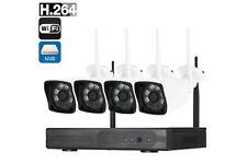 Kit videosorveglianza NVR wireless full HD WiFi IP 4 telecamere 6LED 5G