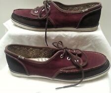 KEDS Men Skate Shoes Sneakers Laces Burgandy Dk Brown Suede Sporty Casual Sz 11