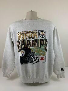 VTG 1994 Pittsburgh Steelers Starter Crew Neck Sweater Mens Size XL Champs EUC