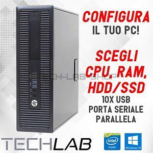 PC DESKTOP FISSO COMPUTER CONFIGURABILE HP PRODESK 16GB RAM SSD 512 1TB HD 500GB