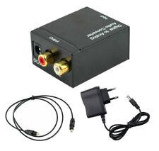 Audio Konverter Wandler Digital Toslink Koaxial zu Analog Netzteil 5V/DC Kabel