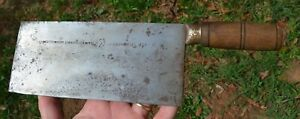 Vintage Chinese Hong Kong Ho Ching Kee Lee Forged Chef Knife Meat Cleaver