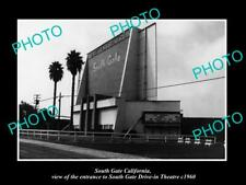 OLD 8x6 HISTORIC PHOTO OF SOUTH GATE CALIFORNIA THE DRIVE IN THEATRE c1960 2