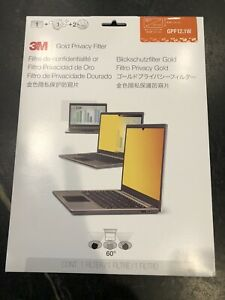 """New 3M GPF12.1W Gold Privacy Filter for Widescreen Laptop 12.1"""" Notebook"""