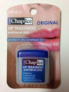 Chap Ice Lip Treatment ORIGINAL Petroleum Jelly 0.25oz protect dry chapped lips