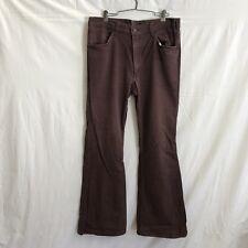 "Levi's USA Mens 35x32 Vintage 70s Brown Denim 22"" Bell Bottom Jeans"