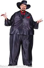 Mens 1920s Fat Cat Tony Gangster Great Gatsby 20's Fancy Dress Costume Outfit