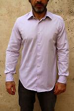 UNGARO camicia casual da uomo a maniche lunghe cotone rosa 39/15 M MADE IN ITALY