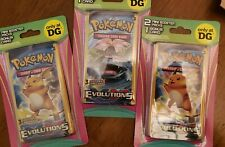 🚨 6 XY EVOLUTIONS Booster Packs Lot - Factory Sealed Pokemon Cards Charizard