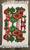 Vintage Retro Christmas Ornament Pattern Cotton Dish Towel USA