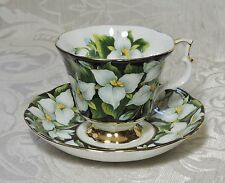 Royal Albert Provincial Flowers Trillium Cup & Saucer Tazza da tè Vintage 1975