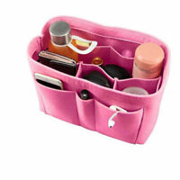Multi-Pocket Women Insert Bag Felt Fabric Purse Handbag Organizer Bag Tote HS