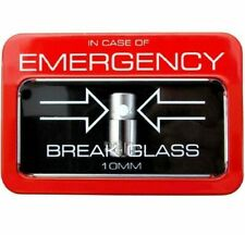 10mm Socket In Case of Emergency Break Glass Mechanic 3/8 Tool Tray Box Set 1/4