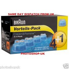 BRAUN CCR5 CLEAN AND RENEW MENS ELECTRIC SHAVER HYGIENIC REFILL CARTRIDGE 5-PACK