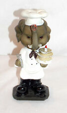 NEW BOBBLEHEAD BARNYARD ELEPHANT BAKER CHEF BIRTHDAY CAKE STATUE FIGURE 6""