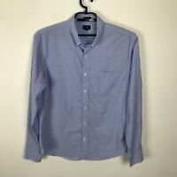 J. Crew Shirt Mens Size XL Slim Fit Blue Solid Button Down Long Sleeve Cotton