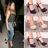 Ladies Womens High Heel Buckle Peep Toe Party Sandal Platform Fashion Shoes Size