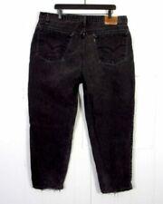 Jeans vintage en cuir pour homme