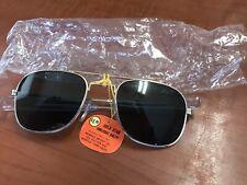 Vintage Aviator Pilot Gold Sunglasses 1970's Nos Vietnam Era Sg-02 Original Usaf