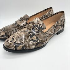 fda7a1e1248 Womens Ladies Flat Loafers Casual Comfort Snake Skin Work Pumps Shoes Size  3-8