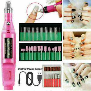 Polisher Nail Bits Strong Drill Machine USB Cutters Kit Polishing Lathe Beauty
