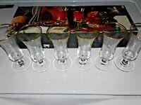 VINTAGE IRISH SHAMROCK SHERRY CORDIAL SHOT GLASSES WITH CLOVERS SET OF 6 IRELAND