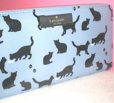 HERE KITTY KITTY~KATE SPADE NEW YORK DAYCATION CAT PRINT NEDA WALLET CLUTCH~$158