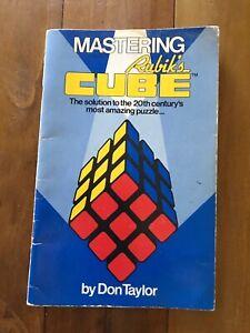 Rubiks Cube Original Book Don Taylor 1981