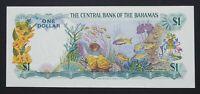 Bahamas 1 Dollar Banknote~1974 Sea Garden/Elizabeth II~P#35a~EF+~S/N J/1 624465
