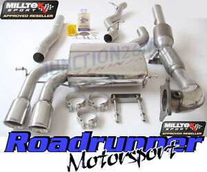 Milltek Audi S3 8P Sportback Exhaust System Non-Resonated Inc RACE Sport Cat