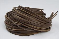 180 cm Marrone Scuro In Pelle 3.5 mm Square Scarpa / Stivali Lacci Tanga extra forte