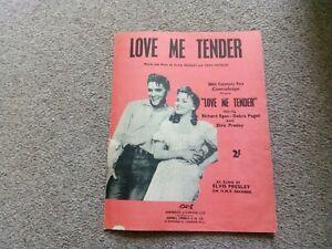 ELVIS PRESLEY - RARE -SHEET MUSIC - LOVE ME TENDER - FILM