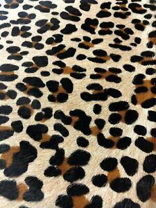 FREE SHIPPING! Black /& dark blue pale leopard pattern printed hair on Kangaroo skin hide leather