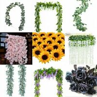 Artificial Plants Flower Greenery Garland Vine Faux Silk Vines Leaf Wreath Bush