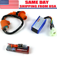 High Performance Racing Ignition Coil + Spark Plug + AC CDI GY6 50cc 125cc 150cc