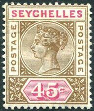 SEYCHELLES-1893 45c Brown & Carmine Sg 25 LIGHTLY MOUNTED MINT V28952