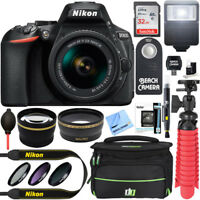 Nikon D5600 24.2MP DSLR Camera w/ AF-P 18-55mm VR Lens Memory & Flash Bundle