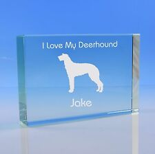 More details for scottish deerhound dog lover gift personalised hand engraved paperweight