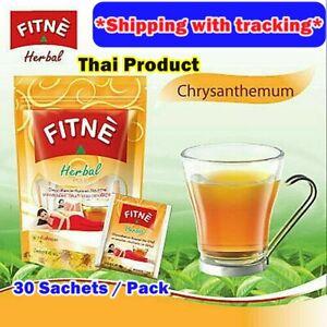 30 Teabag FITNE Chrysanthemum Tea Herbal Daily Drink Quick Slimming Detox Tasty