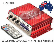 4 Channel 200W Mini HiFi Subwoofer Stereo Audio Amplifier Amp Car Motorcycle MP3