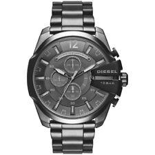 NEW DIESEL MENS MEGA CHIEF CHRONOGRAPH GREY STEEL WATCH - DZ4355 - RRP £259
