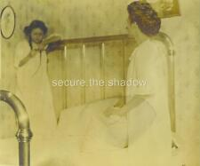 "RPPC: MOTHER Telling Winsome YOUNG PREOCCUPIED DAUGHTER, ""It's Time For Bed"""