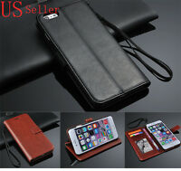 """Luxury Genuine Real Leather Wallet Flip Cover Case For Apple iPhone 6 PLUS 5.5"""""""
